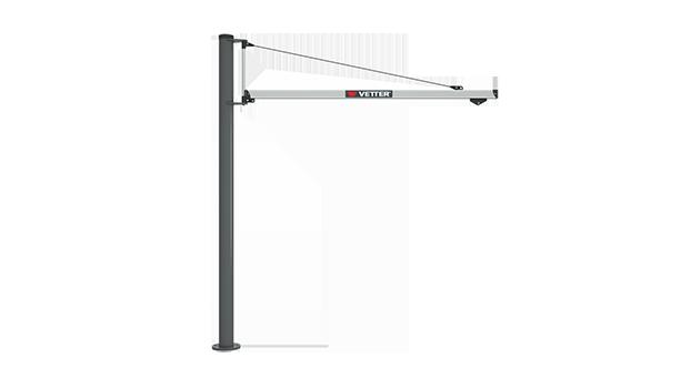 Column-mounted slewing jib crane UNILIFT LIGHT ULS