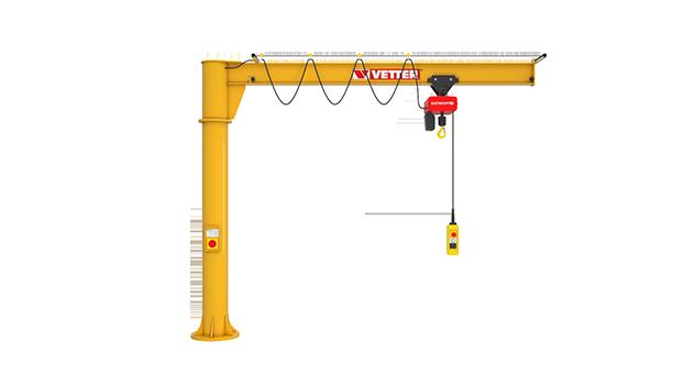 Column-mounted slewing jib crane PRIMUS PR
