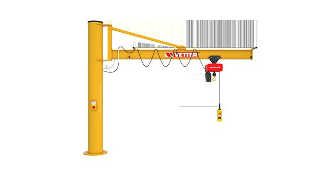 Column-mounted slewing jib crane PRAKTIKUS PR