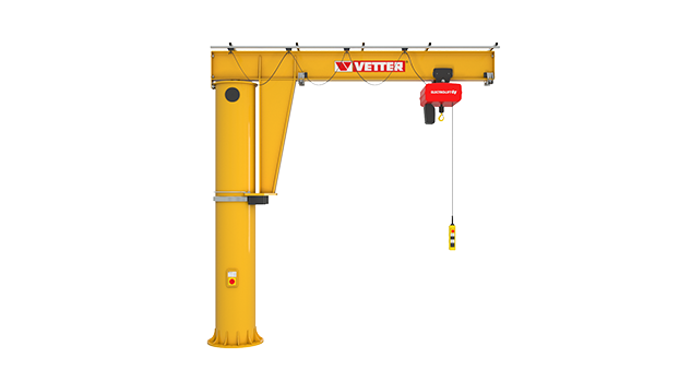 Column-mounted slewing jib crane MEISTER M