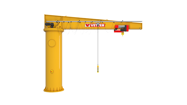 Column-mounted slewing jib crane BOSS B