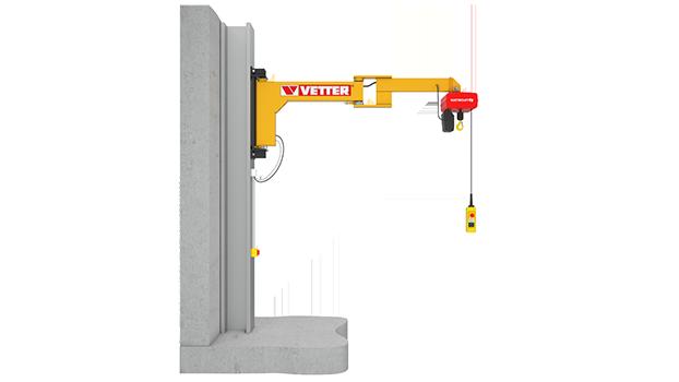 Wall-mounted slewing jib crane BOY BW