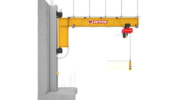 Wall-mounted slewing jib crane GESELLE