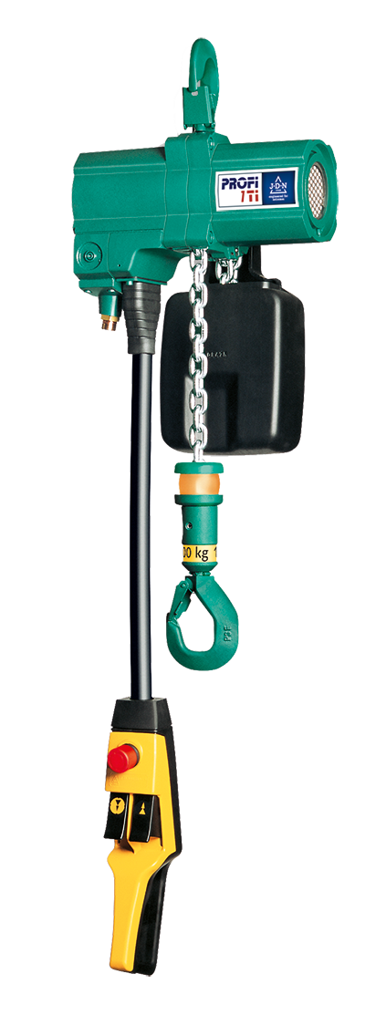 JDN Air Hoists Profi (0,25 TI – 2 TI, 3 TI – 20 TI, 25 TI – 100 TI)