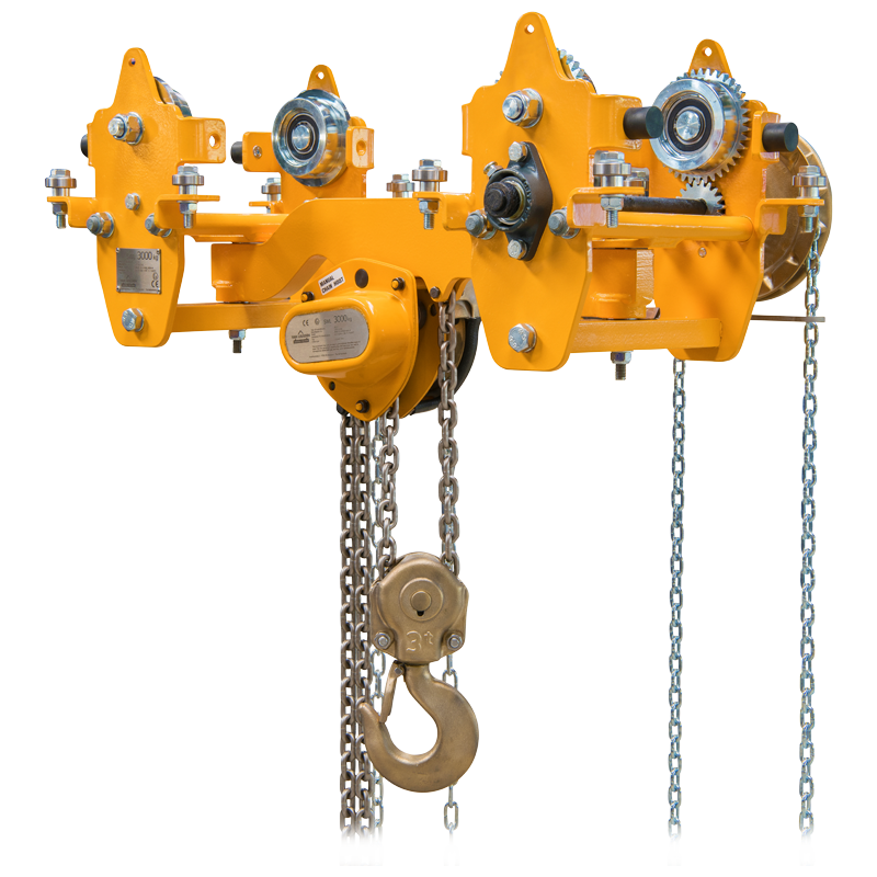 Articulated Low Headroom Trolley Hoist Combination
