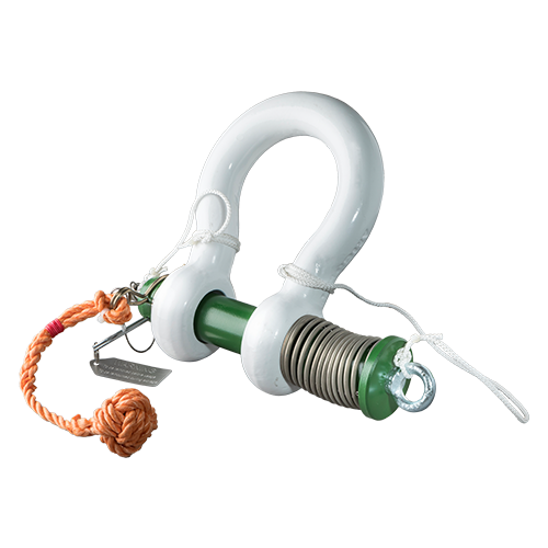 Green Pin® Spring Release ROV Shackle