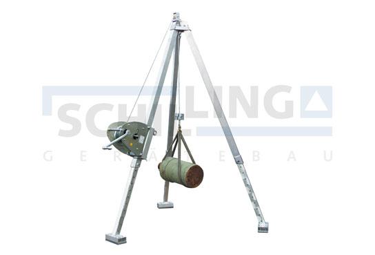 Aluminium Tripod Crane with hand winch