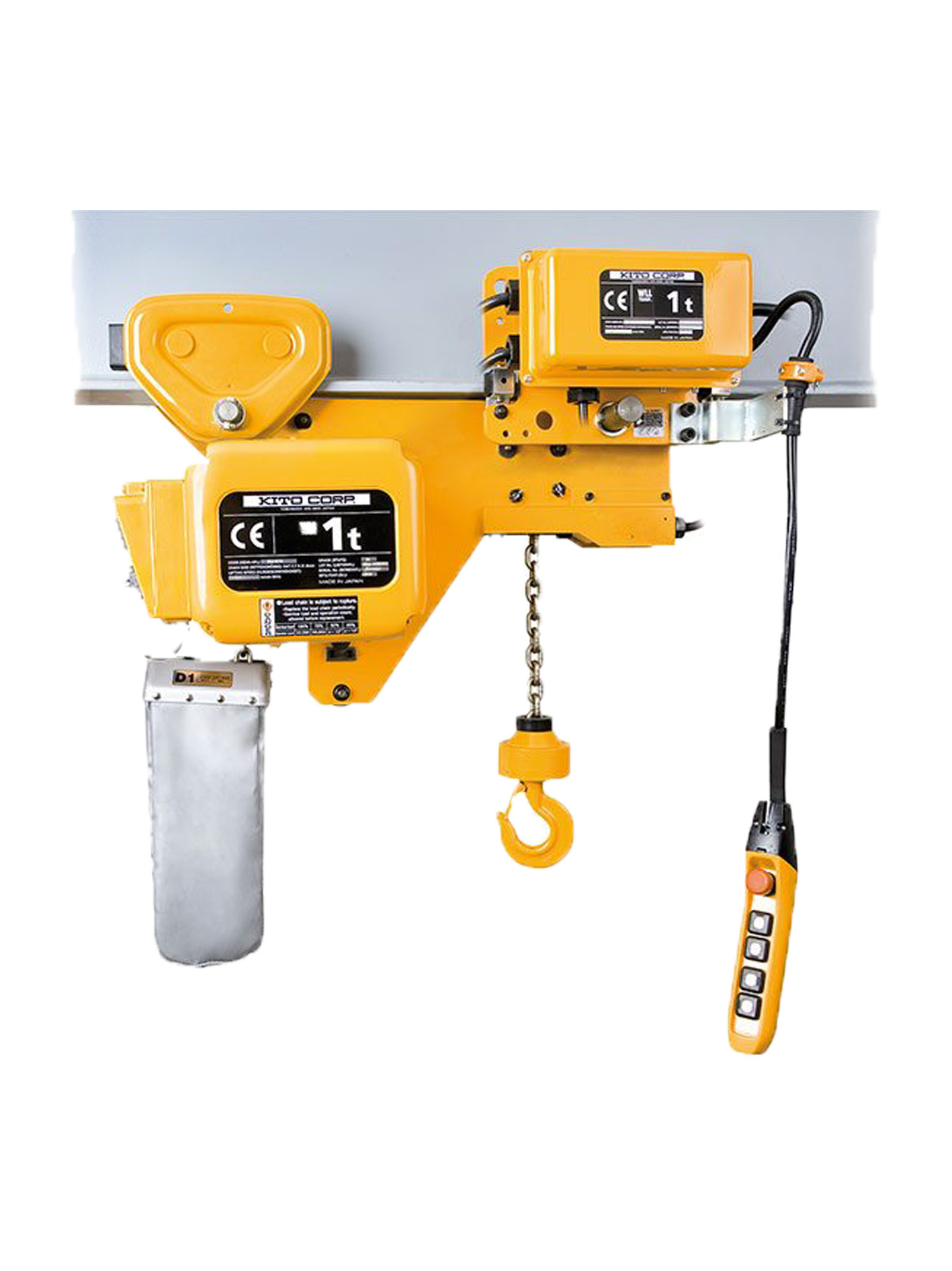 KITO electric chain hoist with ultralow building height