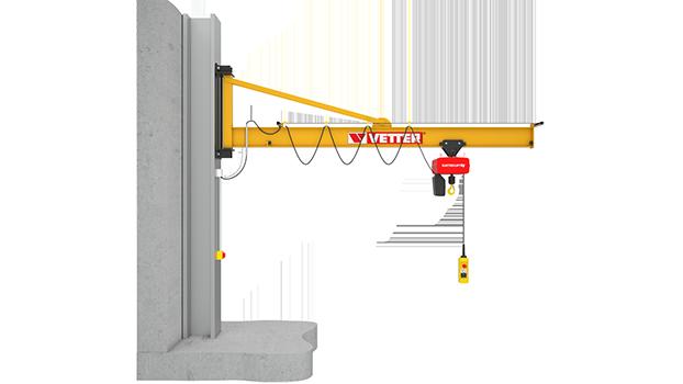 Wall-mounted slewing jib crane PRAKTIKUS PW