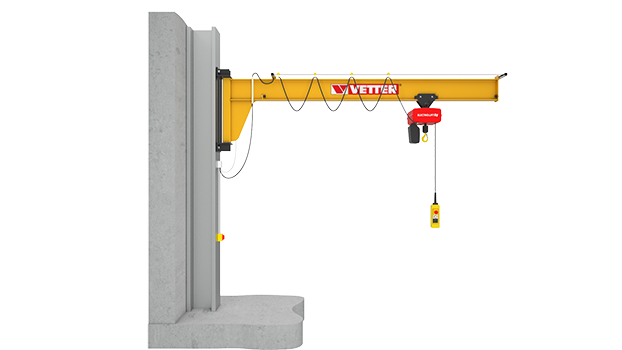 Wall-mounted slewing jib crane ASSISTENT AW