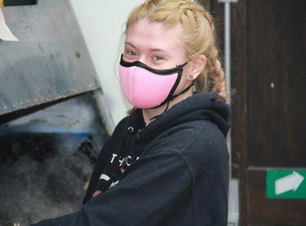 mask at work