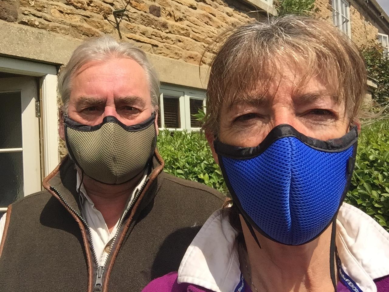 wearing masks