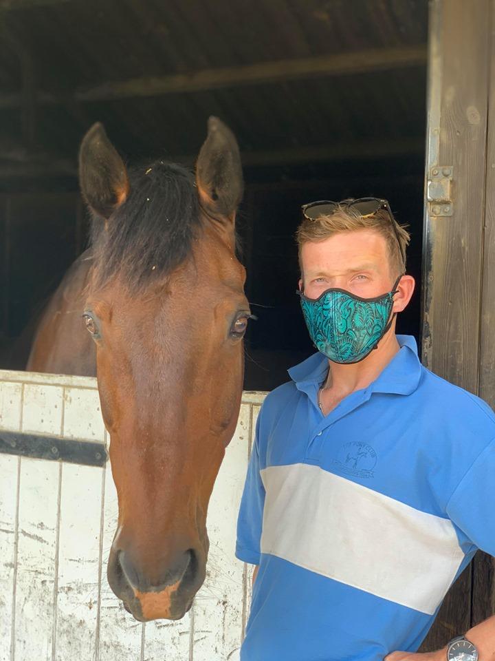 masks riding horses