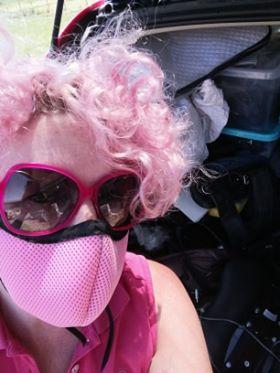 pink facemask