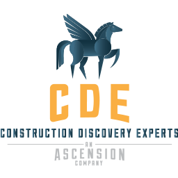 CDE Logo with blue horse and yellow lettering