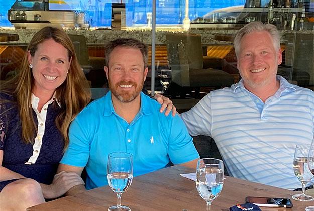 CDE Team at an outdoor restaurant