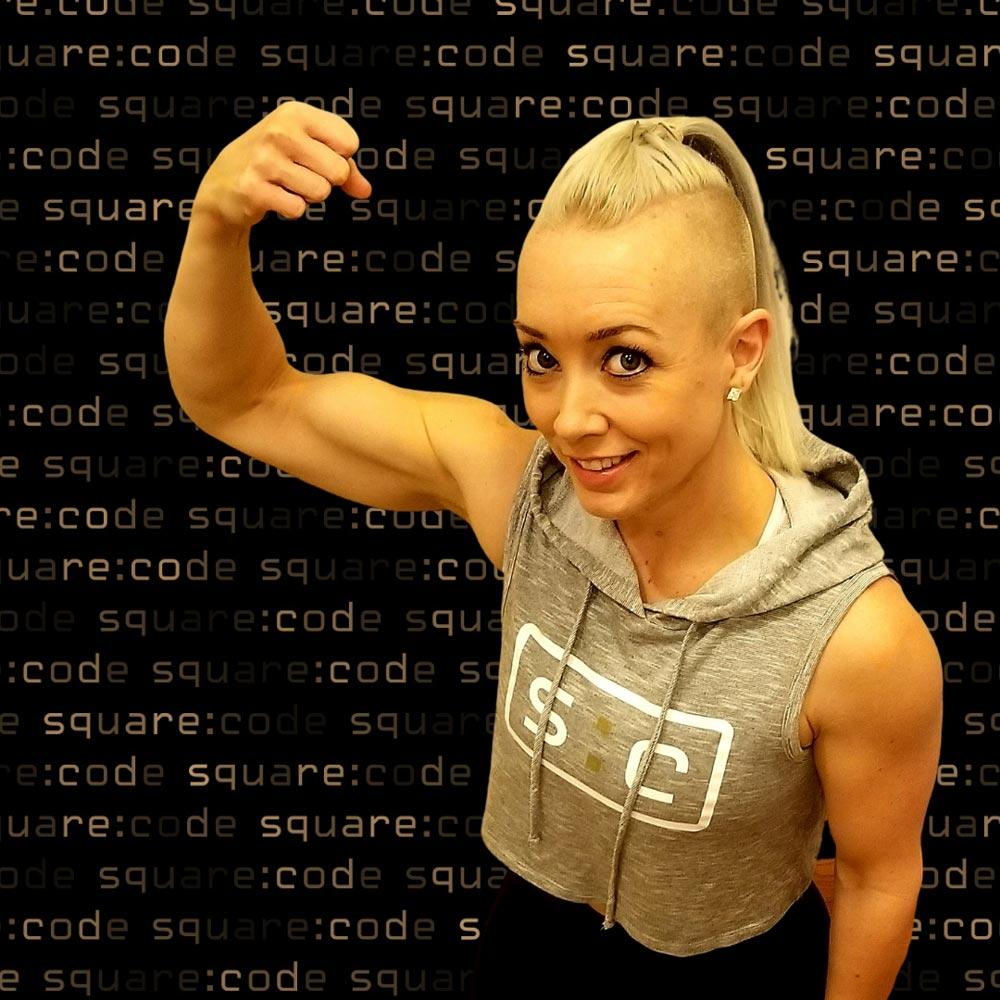 Kellie Mega, Owner of square:code Fitness