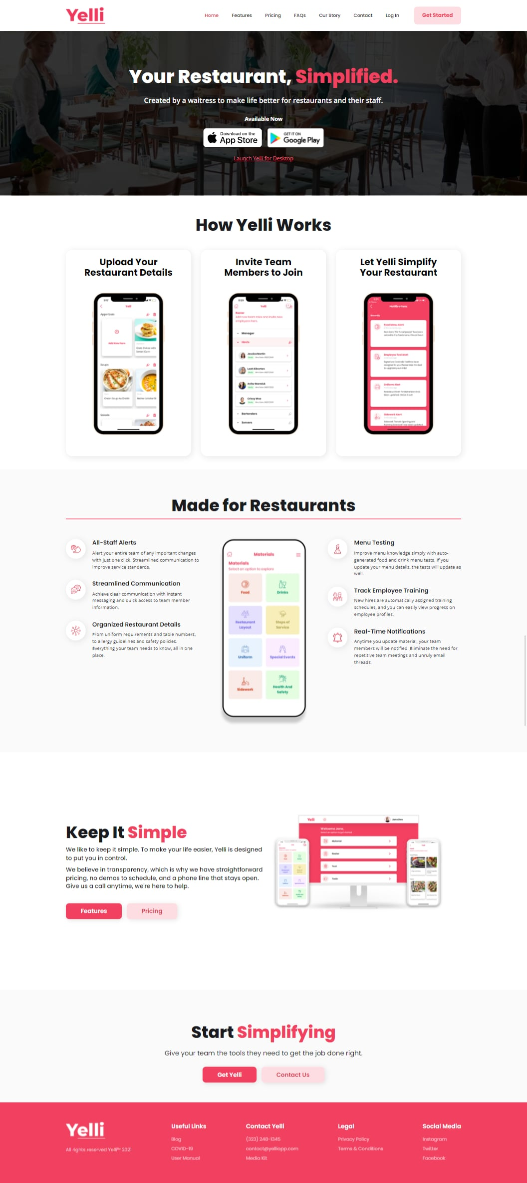 Yelli is made so you can run your restaurant with ease