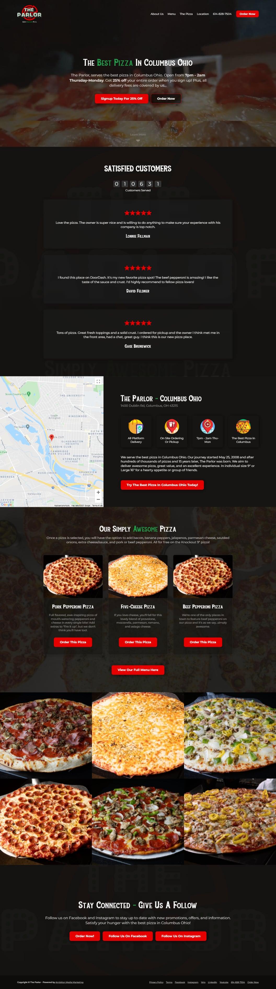 Serves the best pizza in Columbus Ohio