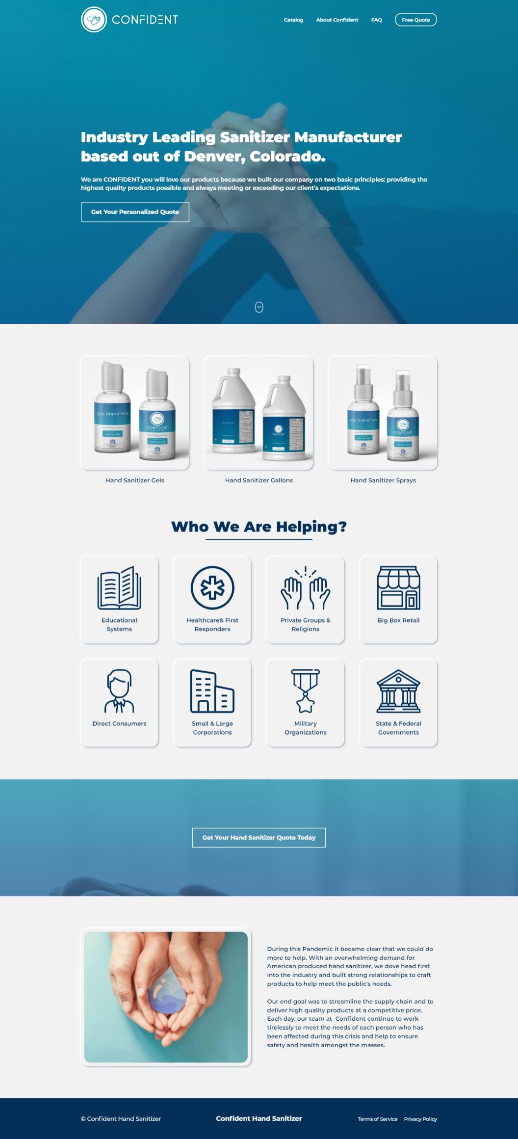 Industry Leading Sanitizer Manufacturer