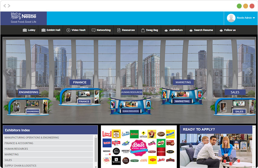 Virtual Event Features   Host Events Online   vFairs