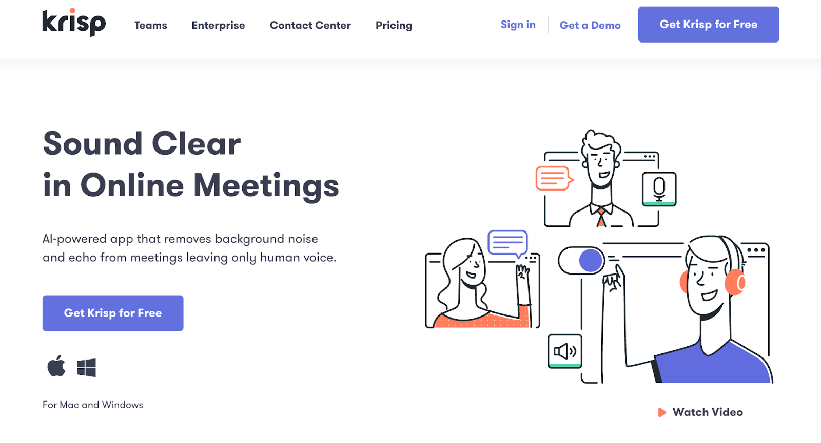 Krisp   Virtual Collaboration Tools