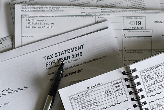 collection of tax forms