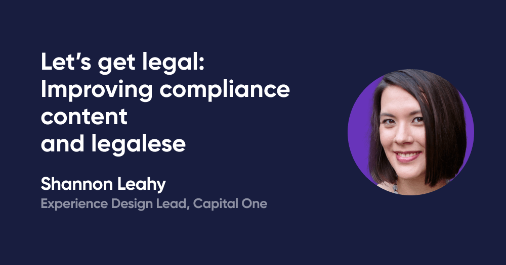 Let's get legal: Improving compliance content and legalese