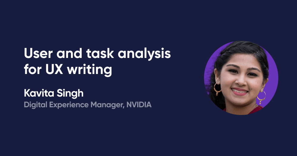 User and task analysis for UX writing
