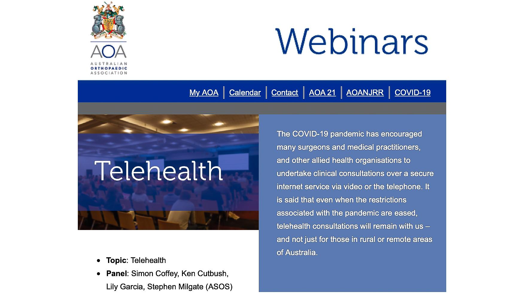 AOA Telehealth Webinar