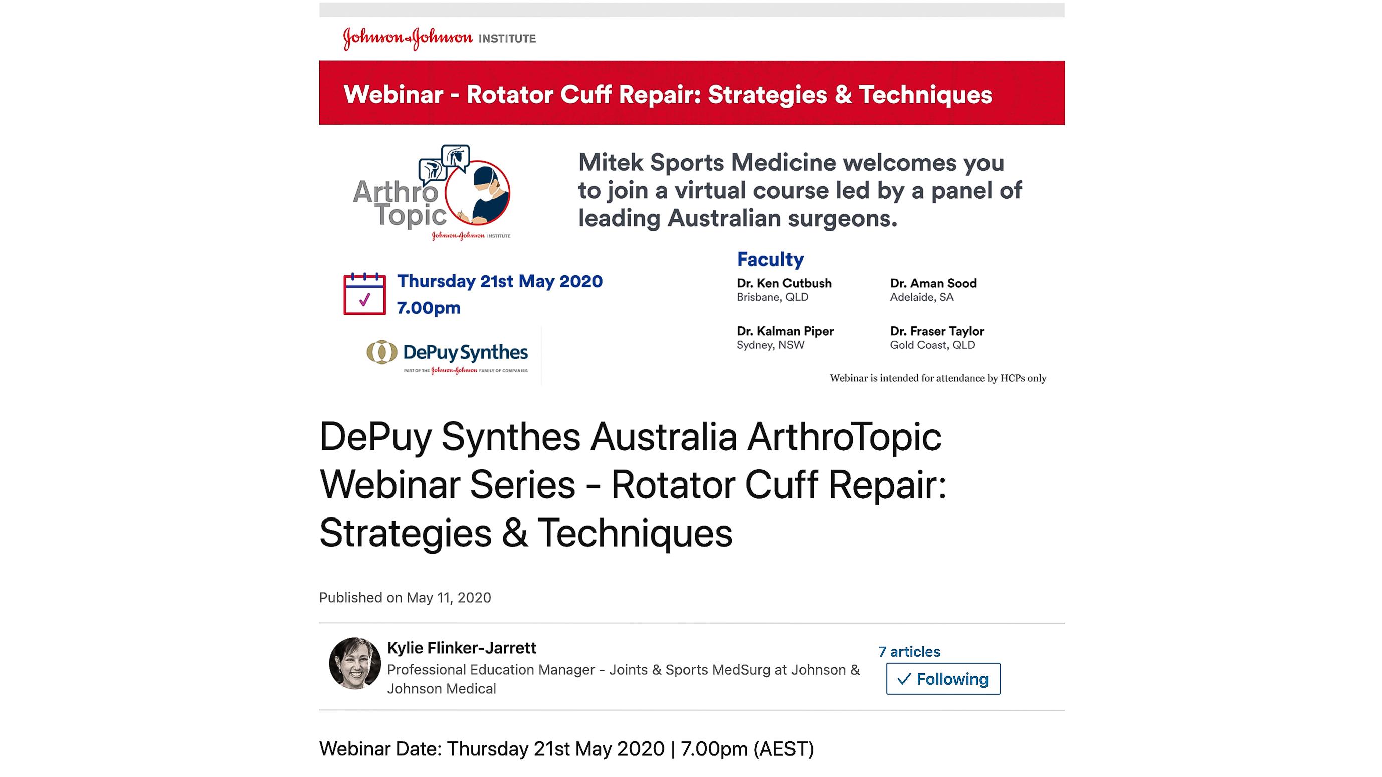 Rotator Cuff Webinar