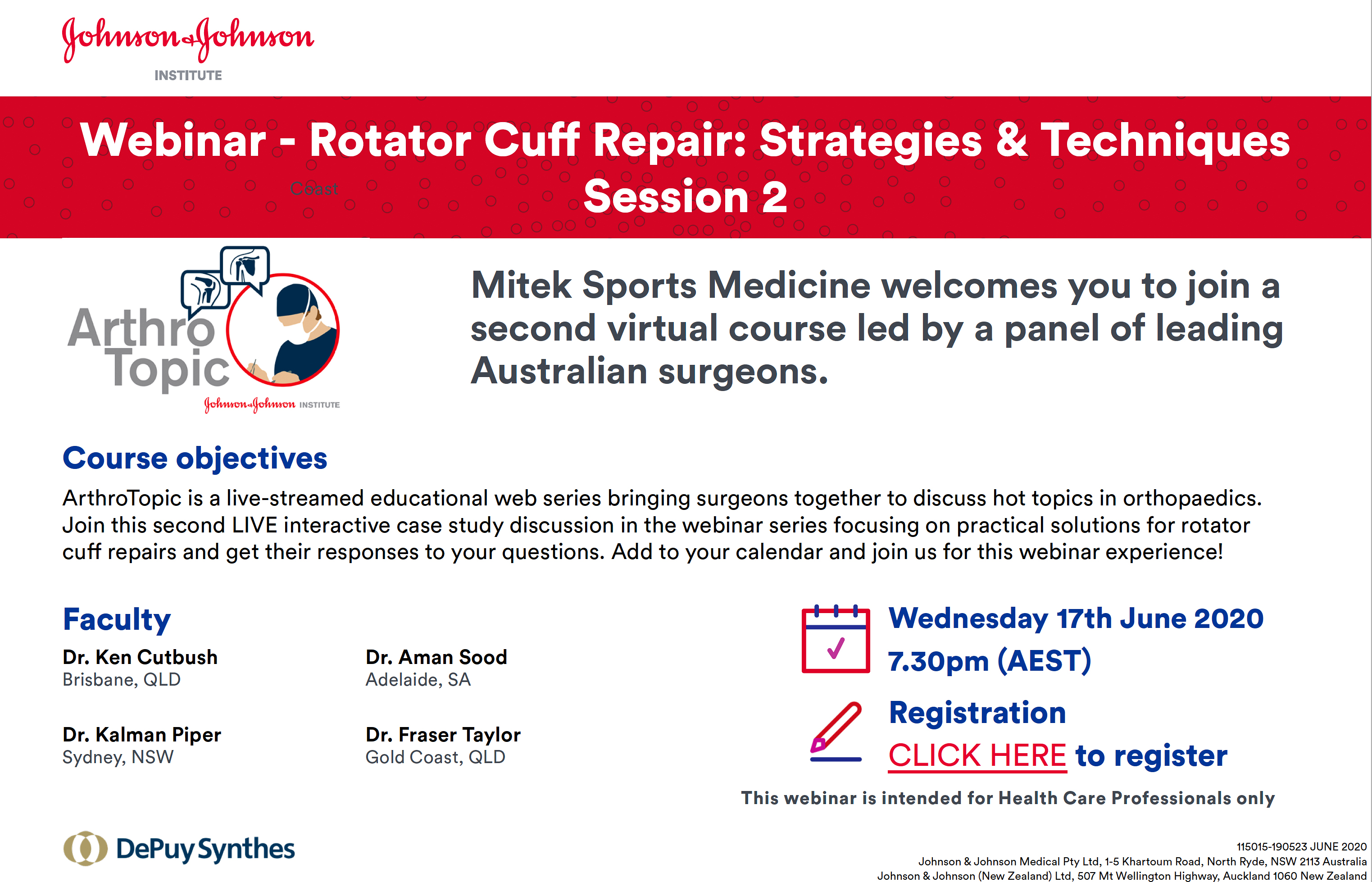 Rotator Cuff Webinar: Strategies & Techniques