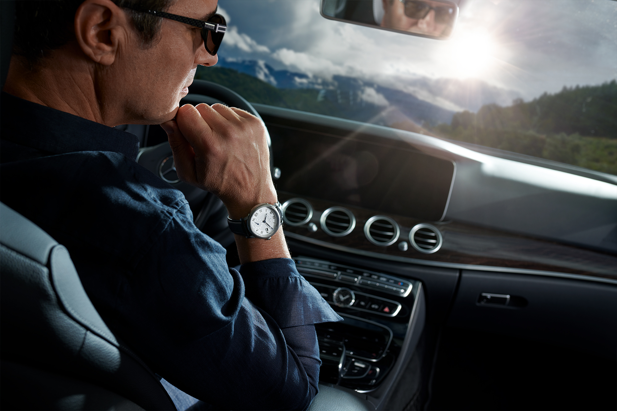 lifestyle photoshooting for a swiss watch brand