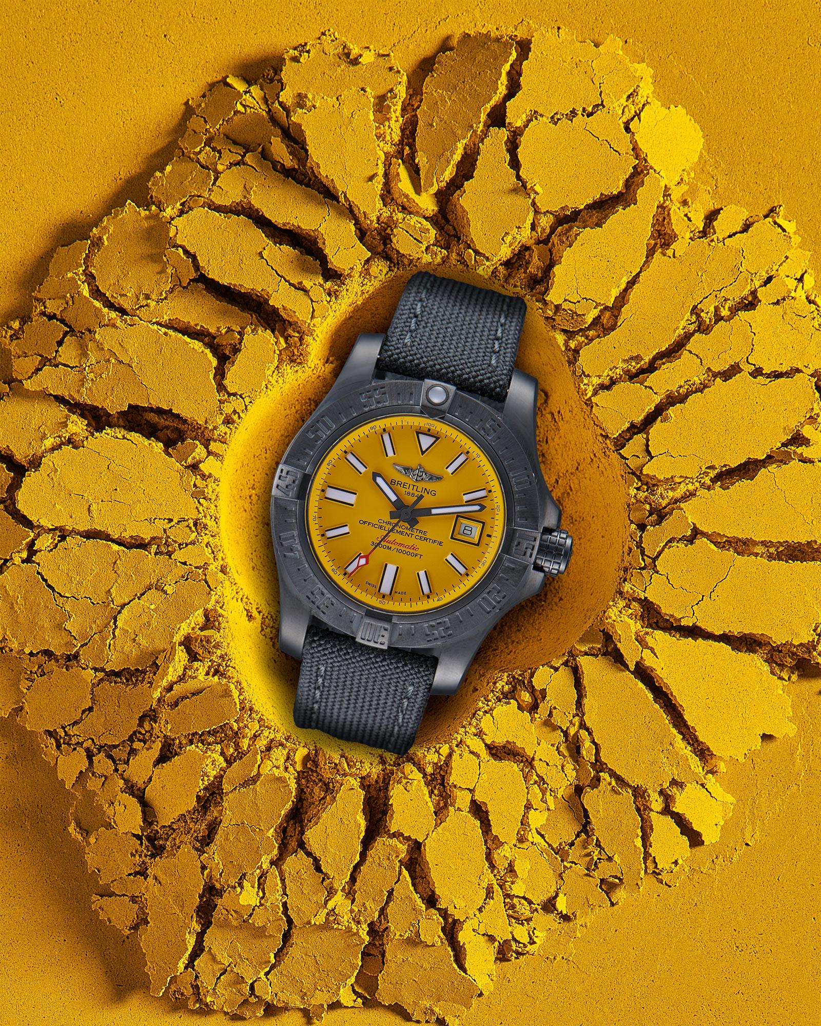 Image créative de la montre Breitling - Photographe de montres Philippe Hahn