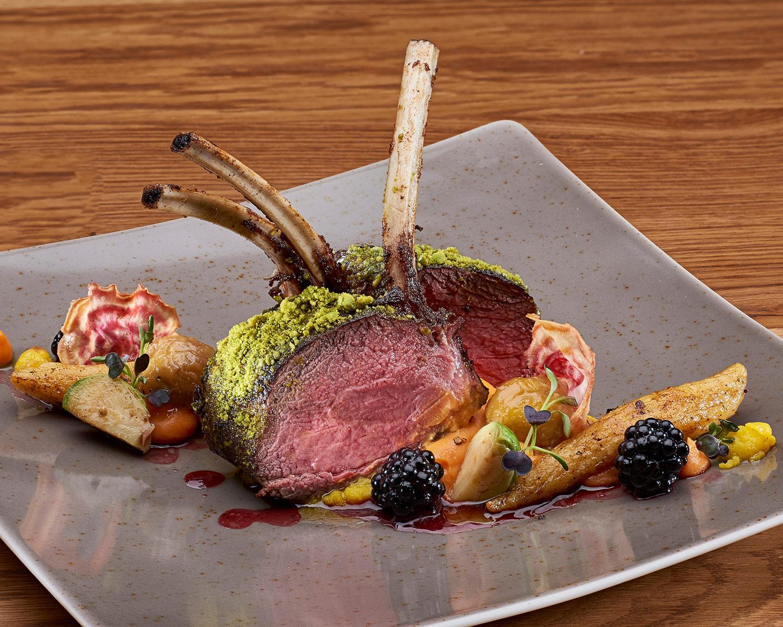 Photo de plat du chef de cuisine (Sebastian Schuster) de l'hôtel Aspen Grindelwald