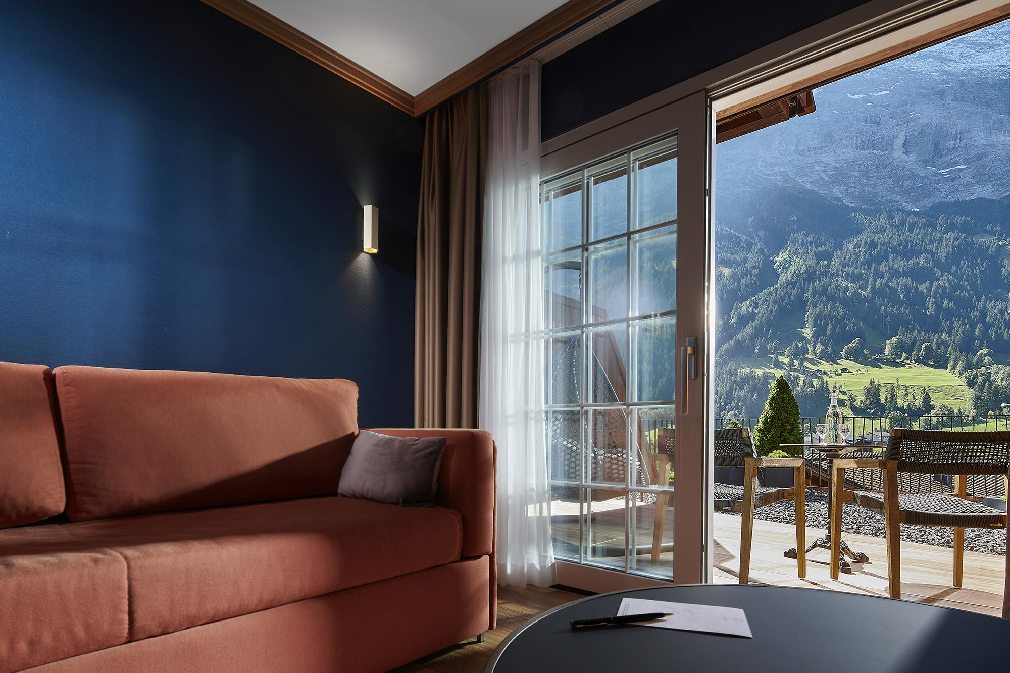 Zimmer mit Bergblick Gletscherhotel Grindelwald