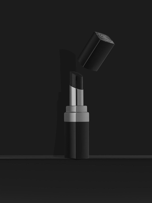 fine art black white lipstick chanel