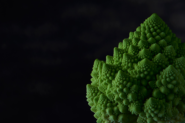 image culinaire de chou romanesco en macro photographie