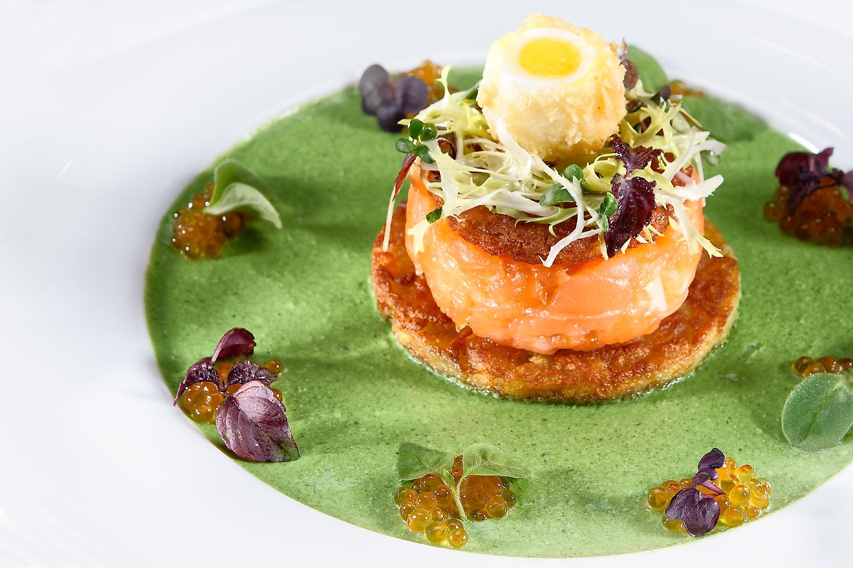 Kulinarisches Foto Lachs Kochteller