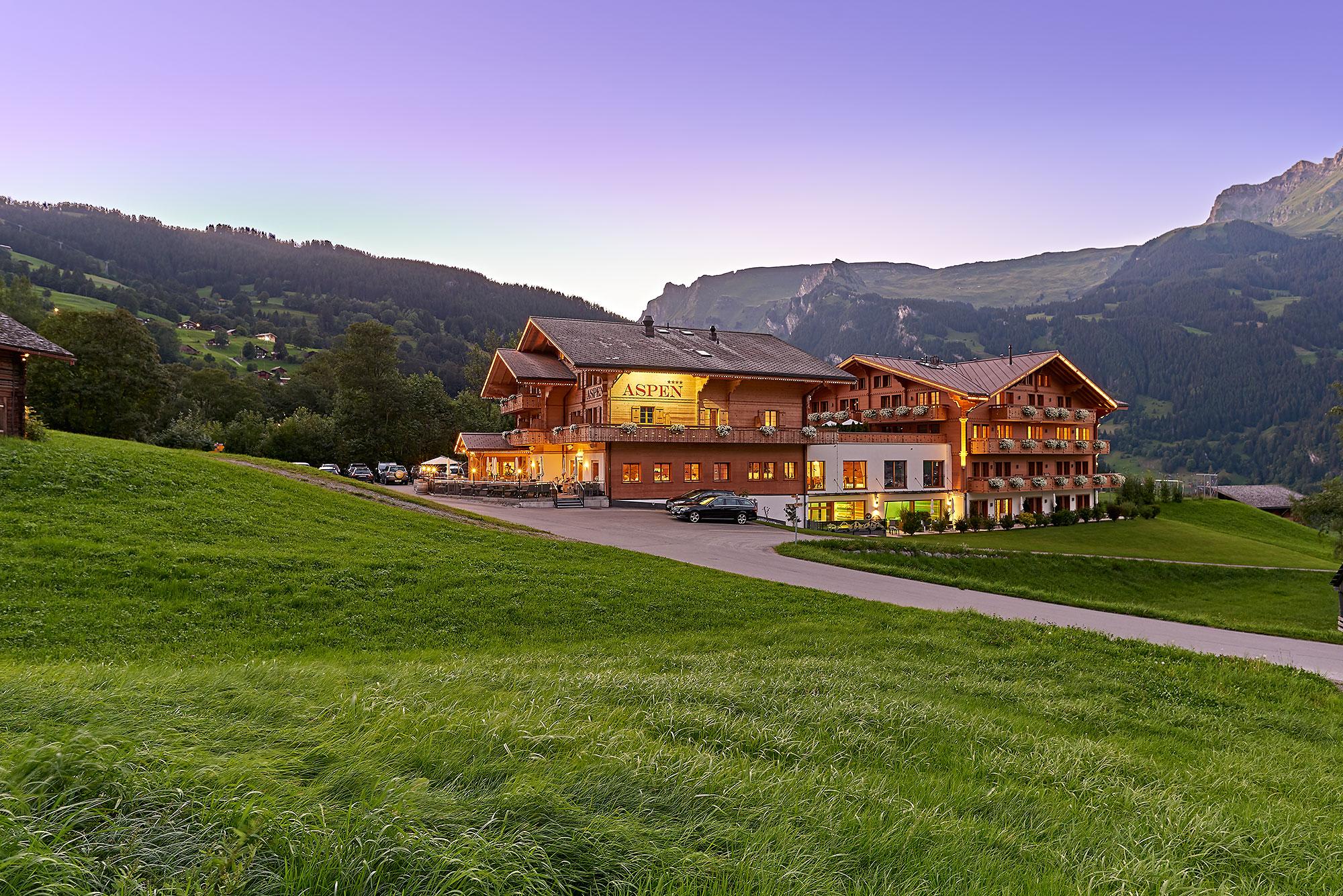 Hotel Aspen Grindelwald, Foto der Außenarchitektur der Hotelanlage