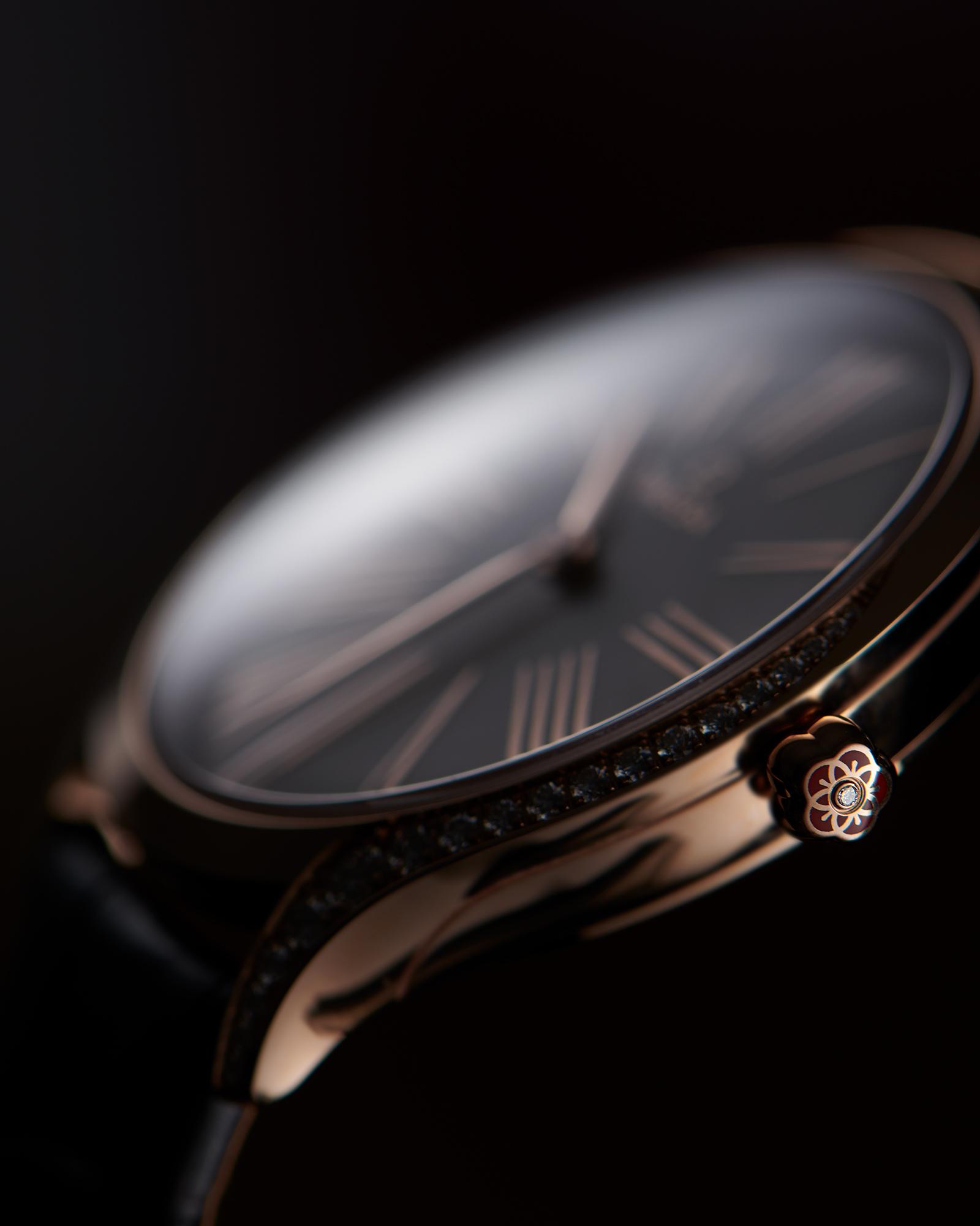 photographie de détails de la montre omega trésor
