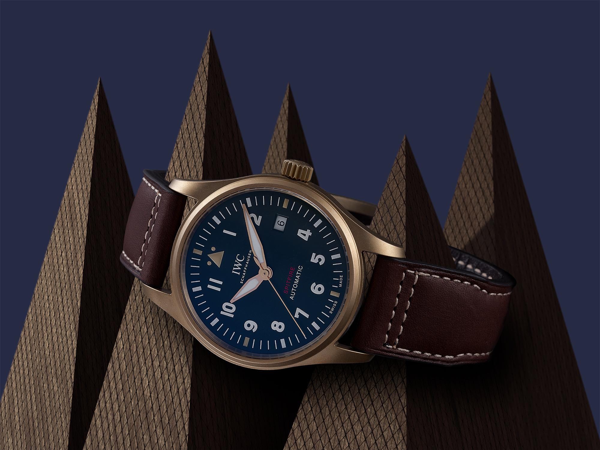 photo créative pour la montre spitfire de iwc de schaffhausen