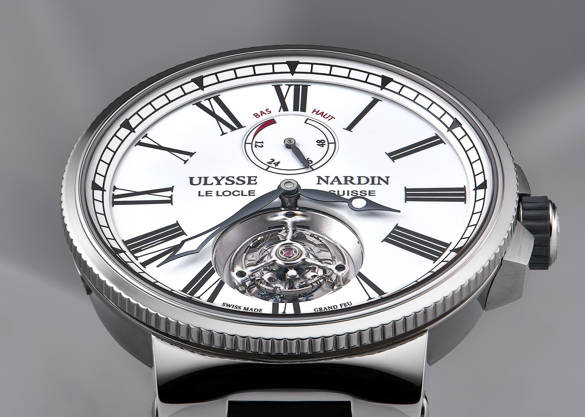 photo de la montre marine tourbillon d la marque ulysse nardin la chaux de fonds