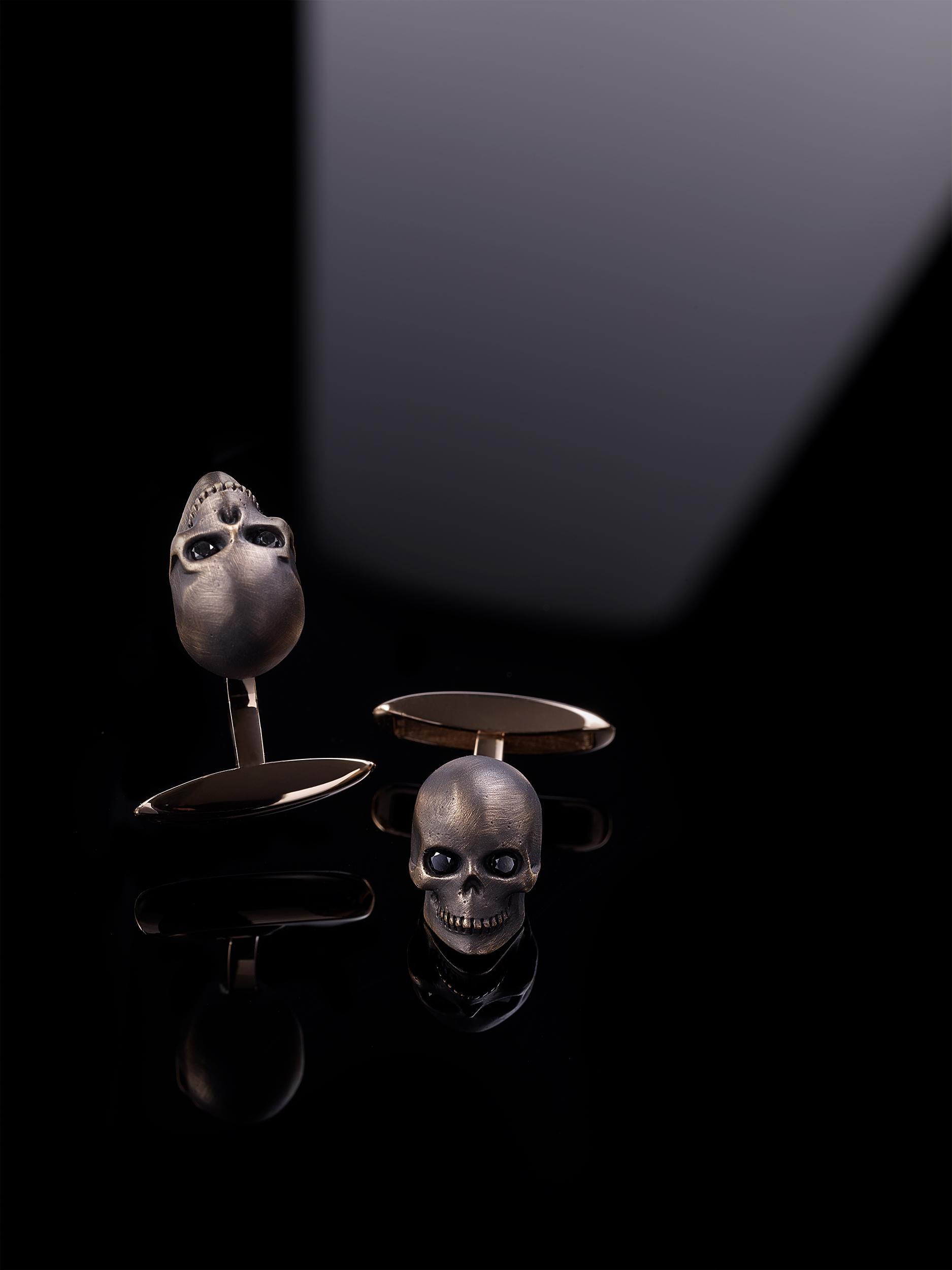 boutons de machettes en or version vanité
