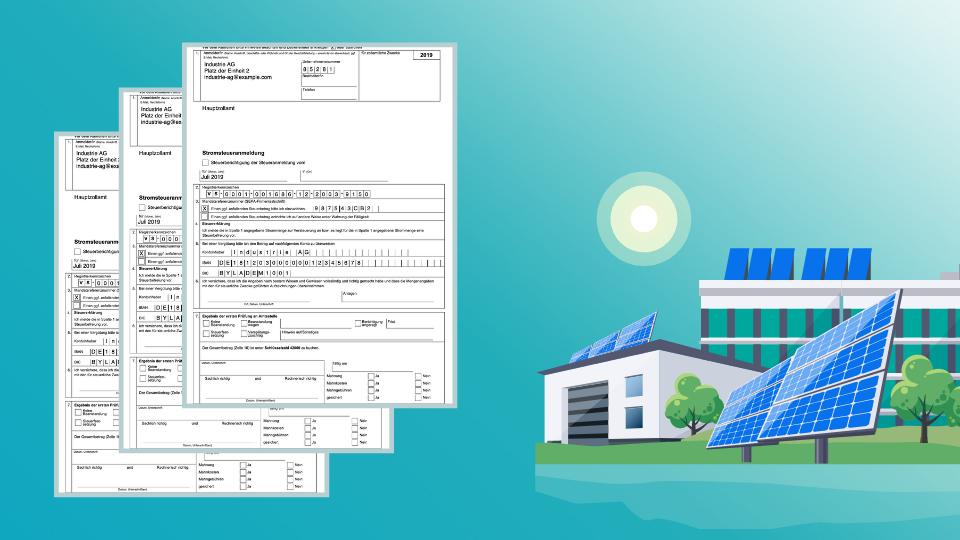 Formulare Meldepflichten Photovoltaik Industrie Gewerbe Liegenschaft