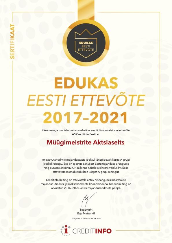 Edukas Eesti ettevõte 2021