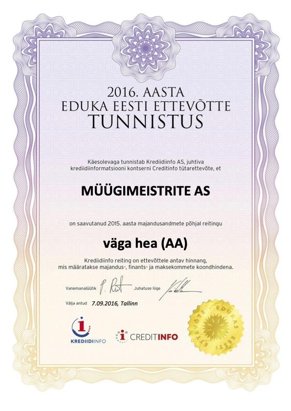 Edukas Ettevõte 2016