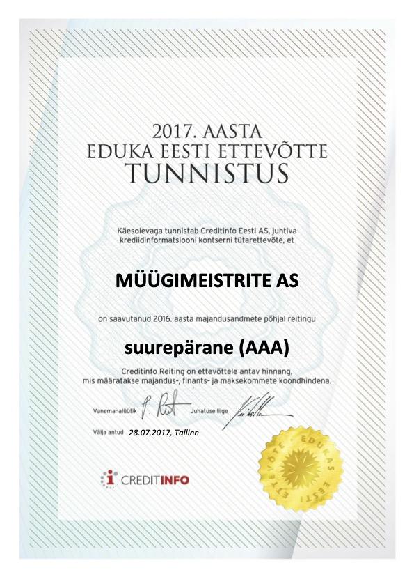Edukas Ettevõte 2017