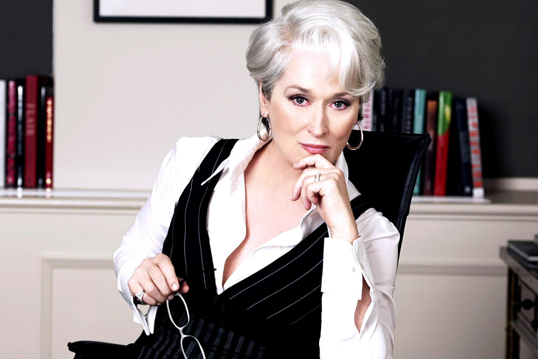 Meryl Streep in the movie The Devil Wears Prada