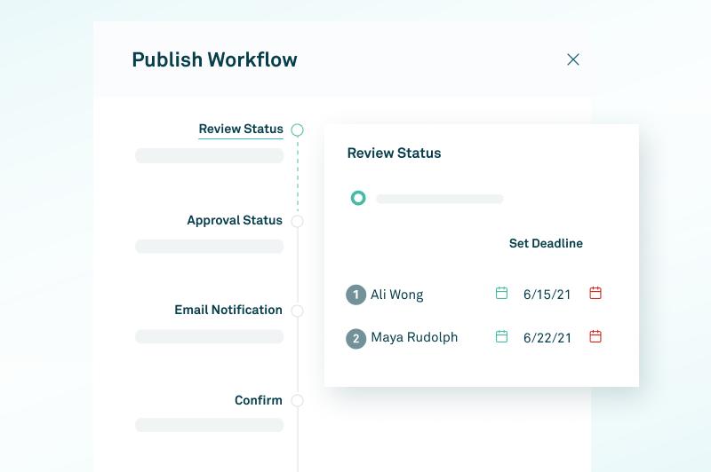 screenshot of workflow in CaptivateIQ